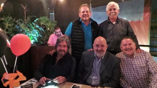 Carlos Durán, Luis Francisco Delgado, Arturo Mendoza, Jorge Durán y Jaime López.JPG