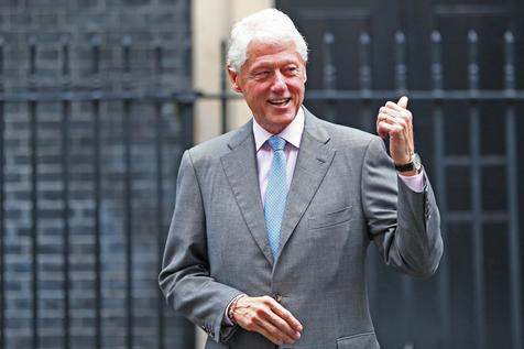 Former US President Bill Clinton visits British Prime Minister