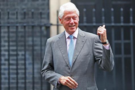 Former US President Bill Clinton visits British Prime Minister