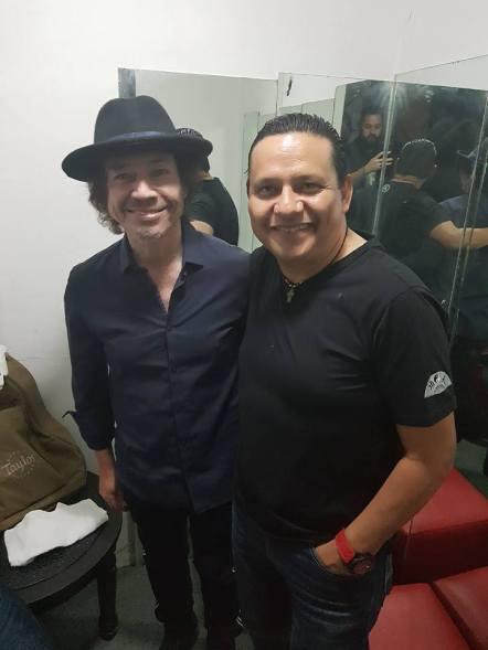 ADÁN SÁMANO con el maestro MIGUEL LUNA