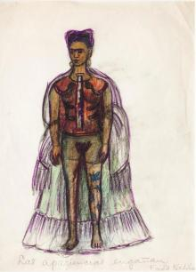 Frida Kahlo (Mexican, 19071954). Appearances Can Be Deceiving, n.d. Charcoal and colored pencil on paper, 11 x 8 in. (29 x 20.8 cm). © 2018 Banco de México Diego Rivera Frida Kahlo Museums Trust, Mexico, D.F. / Artists Rights Society (ARS), New York